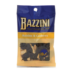 BAZZINI RAISINS & CASHEWS 2 OZ PEG BAG