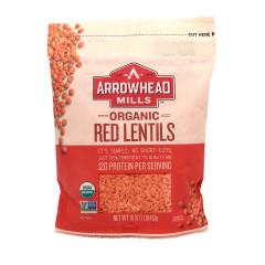 ARROWHEAD MILLS RED LENTILS 1 LB PK6 POUCH