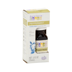 AURA CACIA ESSENTIAL PEPPERMINT OIL 0.5 OZ BOX
