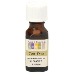 AURA CACIA ESSENTIAL TEA TREE OIL 0.5 OZ BOTTLE
