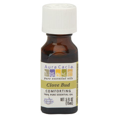 AURA CACIA ESSENTIAL CLOVE BUD OIL 0.5 OZ BOTTLE