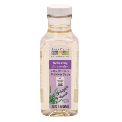 AURA CACIA RELAXING LAVENDER BUBBLE BATH 13 OZ BOTTLE