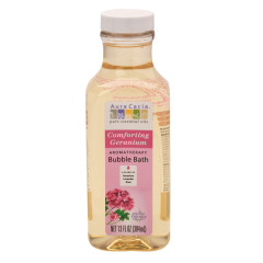 AURA CACIA COMFORTING GERANIUM BUBBLE BATH 13 OZ BOTTLE