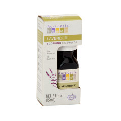 AURA CACIA ESSENTIAL LAVENDER OIL 0.5 OZ BOX