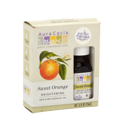 AURA CACIA ESSENTIAL SWEET ORANGE OIL 0.5 OZ BOX