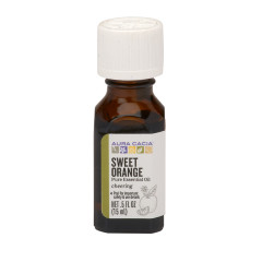 AURA CACIA ESSENTIAL SWEET ORANGE OIL 0.5 OZ BOTTLE