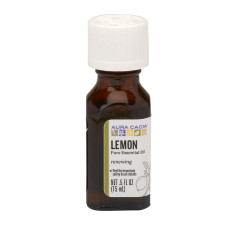 AURA CACIA ESSENTIAL LEMON OIL 0.5 OZ BOTTLE