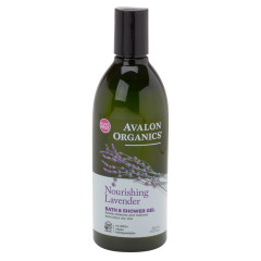 AVALON ORGANICS NOURISHING LAVENDER BATH/SHOWER GEL 12 OZ BOTTLE