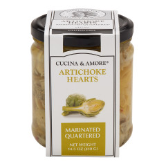 CUCINA & AMORE MARINATED QUATERED ARTICHOKE HEART 14.5 OZ JAR