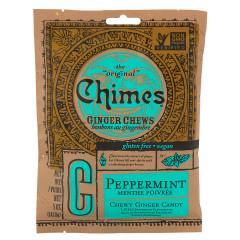 CHIMES PEPPERMINT GINGER CHEWS 5 OZ PEG BAG