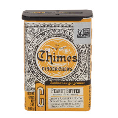 CHIMES PEANUT BUTTER GINGER CHEWS 2 OZ 20 CT TIN