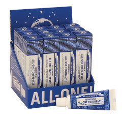 DR. BRONNER'S  TRAVEL SIZE PEPPERMINT 1 OZ TOOTHPASTE