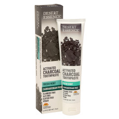 DESERT ESSENCE ACTIVATED CHARCOAL FRESH MINT TOOTHPASTE 6.25 OZ TUBE