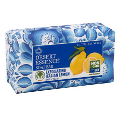 DESERT ESSENCE EXFOLIATING ITALIAN LEMON 5 OZ SOAP BAR