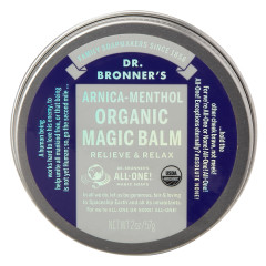 DR. BRONNER'S ORGANIC ARNICA MENTHOL MAGIC BALM 2 OZ TIN