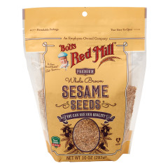 BOB'S RED MILL NATURAL BROWN SESAME SEEDS 10 OZ PEG BAG
