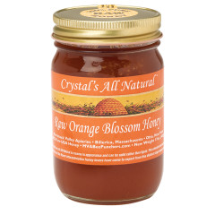CRYSTAL'S HONEY RAW ORANGE BLOSSOM HONEY 17 OZ JAR