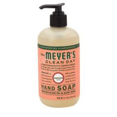 MRS. MEYER'S GERANIUM LIQUID HAND SOAP 12.5 OZ PUMP BOTTLE