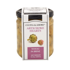 CUCINA & AMORE WHOLE IN BRINE ARTICHOKE HEARTS 14.5 OZ JAR