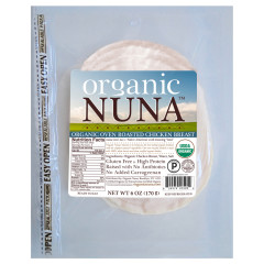 ORGANIC NUNA PRE-SLICED OVEN ROASTED CHICKEN BREAST 6 OZ PACK