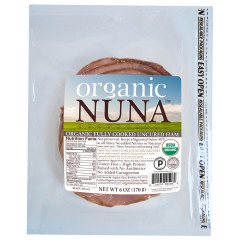 ORGANIC NUNA - UNCURED HAM PRE - SLICED - 6OZ