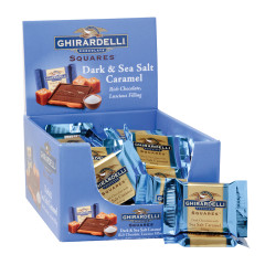 GHIRARDELLI - SQUARES - DARK CARAMEL SEASALT FILLED - .53OZ