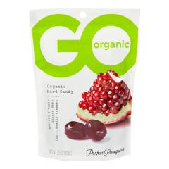 GO ORGANIC POMEGRANATE HARD CANDY 3.5 OZ POUCH