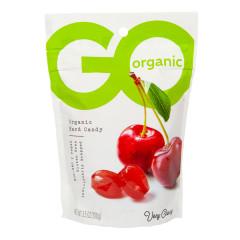 GO ORGANIC CHERRY HARD CANDY 3.5 OZ POUCH