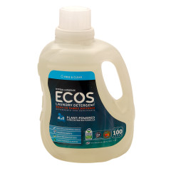 EARTH FRIENDLY ECOS FRAGRANCE FREE LAUNDRY DETERGENT 100 OZ BOTTLE