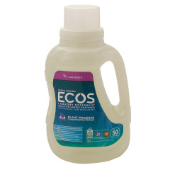 EARTH FRIENDLY ECOS LAVENDER LAUNDRY DETERGENT 50 OZ BOTTLE