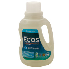 EARTH FRIENDLY ECOS FRAGRANCE FREE LIQUID LAUNDRY DETERGENT 50 OZ BOTTLE