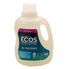 EARTH FRIENDLY ECOS LAVENDER LAUNDRY DETERGENT 100 OZ BOTTLE