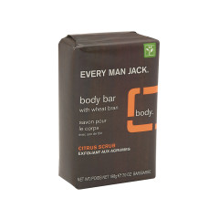 EVERY MAN JACK CITRUS SCRUB BODY BAR 7 OZ SOAP BAR