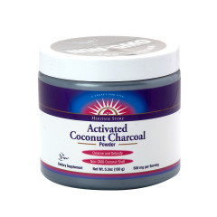 HERITAGE STORE-ACTIVATED COCONUT CHARCOAL UNFLAVORED 5.3 OZ JAR