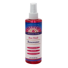 HERITAGE STORE ROSEWATER WITH ATOMIZER 8 OZ SPRAY