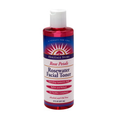 HERITAGE STORE ROSE PETAL ROSEWATER FACIAL TONER 8 OZ BOTTLE