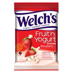 WELCHS FRUIT N YOGURT STRAWBERRY SNACKS 4.25 OZ POUCH