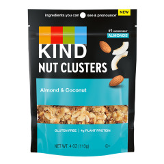 KIND NUT CLUSTERS ALMOND & COCONUT 4 OZ POUCH