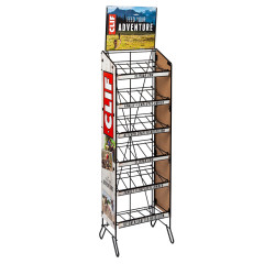 CLIF BAR 6 TIER WIRE FLOOR HOLDS 14 BOXES