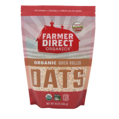 FARMER DIRECT ORGANIC QUICK ROLLED OATS 16 OZ POUCH
