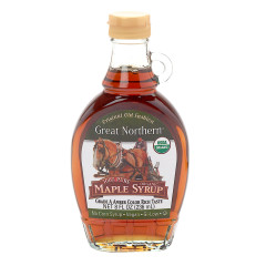 GREAT NORTHERN GRADE A DARK AMBER MAPLE SYRUP 8 OZ BOTTLE