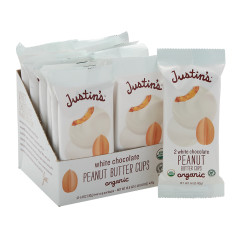 JUSTIN'S WHITE CHOCOLATE PEANUT BUTTER CUPS 2PK 1.4 OZ