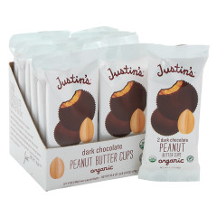JUSTIN'S DARK CHOCOLATE PEANUT BUTTER CUPS 2PK 1.4 OZ