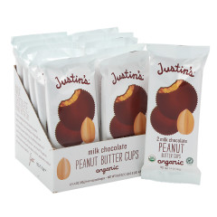 JUSTIN'S MILK CHOCOLATE PEANUT BUTTER CUPS 2PK 1.4 OZ