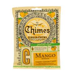 CHIMES MANGO GINGER CHEWS 5 OZ PEG BAG