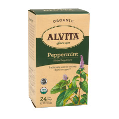 ALVITA TEA ORGANIC PEPPERMINT LEAF TEA BAG 24 CT BOX