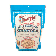 BOB'S RED MILL GLUTEN FREE APPLE BLUEBERRY GRANOLA 12 OZ POUCH