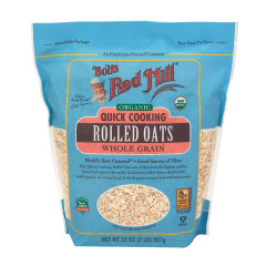 BOB'S RED MILL ORGANIC QUICK COOK ROLLED OATS 32 OZ POUCH