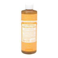 DR. BRONNER'S CITRUS ORANGE SOAP 16 OZ BOTTLE
