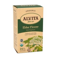 ALVITA TEA ORGANIC ELDER FLOWER TEA BAGS 24 CT BOX